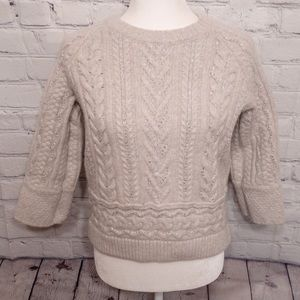 Sundance Touch of Magic Chunky Cable Knit Sweater
